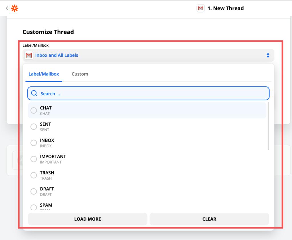 Gmailのスレッドカスタマイズ