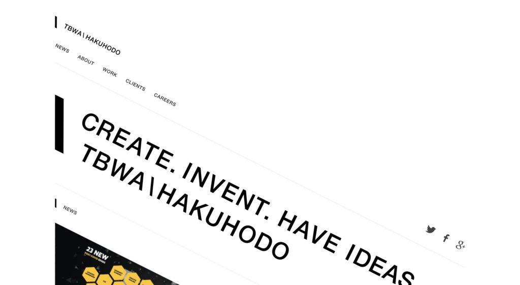 株式会社TBWA HAKUHODO コーポレートサイト